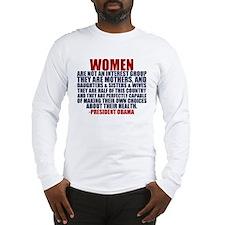 Pro Choice Women Long Sleeve T-Shirt