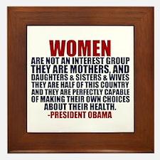 Pro Choice Women Framed Tile