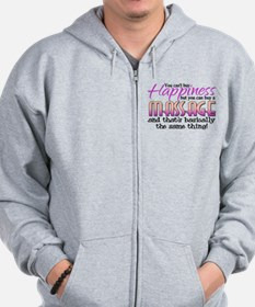 Happiness Massage Zip Hoodie