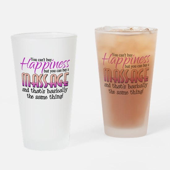 Happiness Massage Drinking Glass