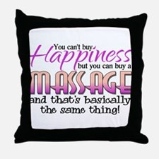 Happiness Massage Throw Pillow