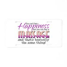 Happiness Massage Aluminum License Plate