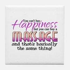 Happiness Massage Tile Coaster