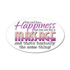 Happiness Massage 22x14 Oval Wall Peel