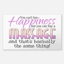 Happiness Massage Sticker (Rectangle)