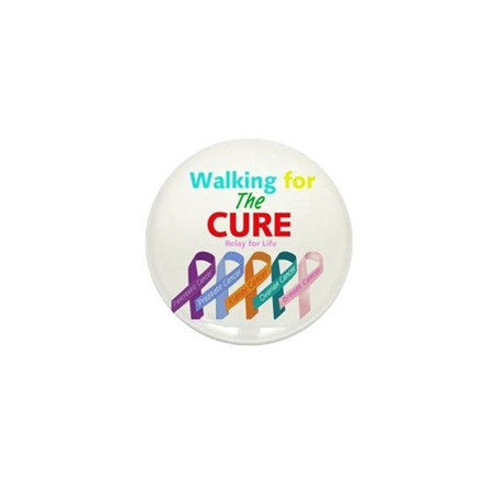 Walking for the CURE Mini Button (10 pack)