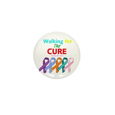 Walking for the CURE Mini Button