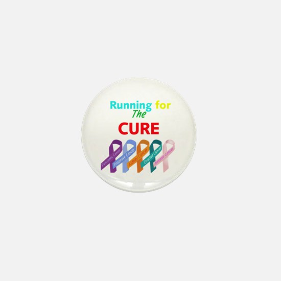 Running for the CURE Mini Button