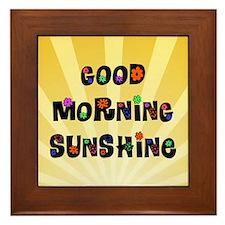 Good Morning Sunshine Framed Tile
