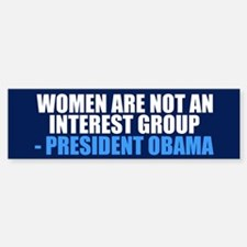 Pro Choice Women Bumper Bumper Sticker