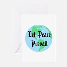 Let Peace Prevail Greeting Cards (Pk of 10)