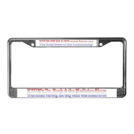 KZUM's Dr. Rock License Plate Frame