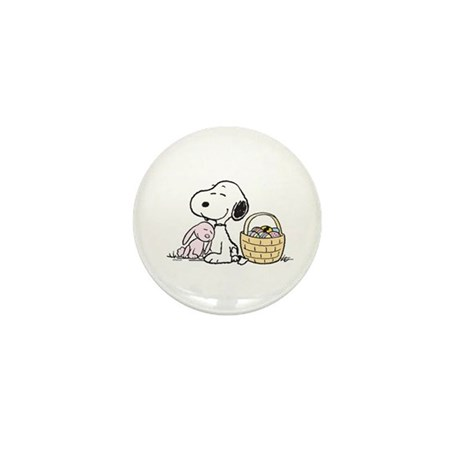 Beagle and Bunny Mini Button