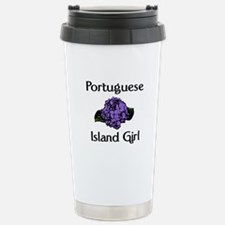 Portuguese Island Girl-Blue Travel Mug