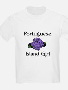 Portuguese Island Girl-Blue T-Shirt
