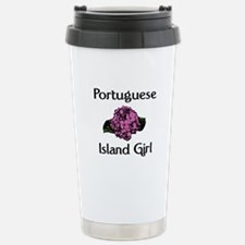 Portuguese Island Girl-Pink H Stainless Steel Trav