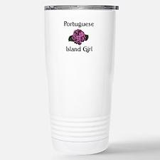 Portuguese Island Girl-Pink H Travel Mug