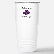Portuguese Island Girl-Purple Stainless Steel Trav