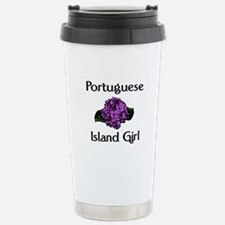 Portuguese Island Girl-Purple Travel Mug