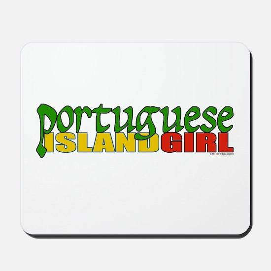 Portuguese Island Girl Mousepad