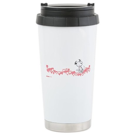 Happy Hearts Stainless Steel Travel Mug