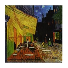 Van Gogh Cafe Terrace At Night Tile Coaster