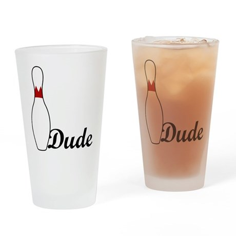 Dude Drinking Glass