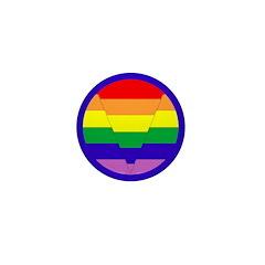 GLBT Geo b Mini Button (100)