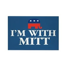 I'm With MITT Rectangle Magnet