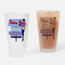 At the Drive in Retro 50's Memories Drinking Glass