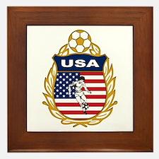 USA Soccer Framed Tile