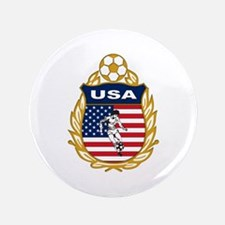 """USA Soccer 3.5"""" Button (100 pack)"""