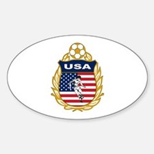 USA Soccer Oval Decal