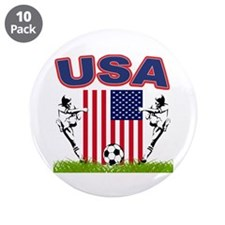 "USA Soccer 3.5"" Button (10 pack)"