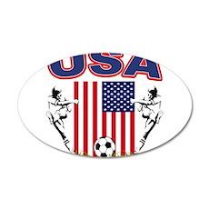 USA Soccer 22x14 Oval Wall Peel