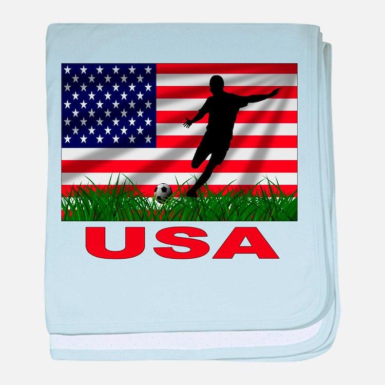 USA Soccer Infant Blanket
