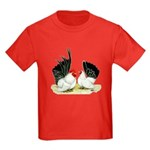 Japanese Black White Bantams Kids Dark T-Shirt