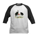 Japanese Black White Bantams Kids Baseball Jersey