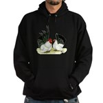 Japanese Black White Bantams Hoodie (dark)