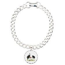 Japanese Black White Bantams Bracelet