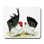 Japanese Black White Bantams Mousepad