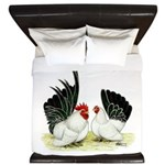 Japanese Black White Bantams King Duvet