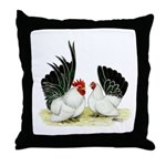 Japanese Black White Bantams Throw Pillow