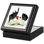 Japanese Black White Bantams Keepsake Box