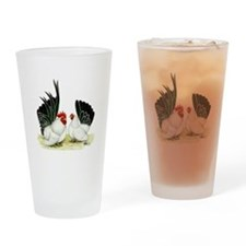 Japanese Black White Bantams Drinking Glass