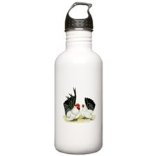 Japanese Black White Bantams Water Bottle