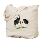 Japanese Black White Bantams Tote Bag