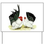 Japanese Black White Bantams Yard Sign