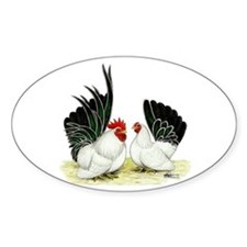 Japanese Black White Bantams Decal