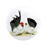 "Japanese Black White Bantams 3.5"" Button (100"